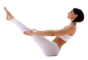 Asasas for a flat tummy: Boat Pose