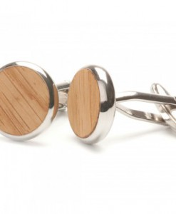 Straight Oak Wooden Cufflinks