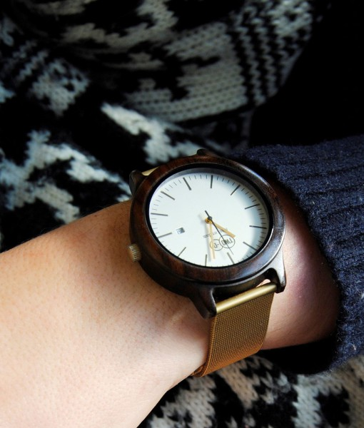 Handmade wooden design watch, handmade
