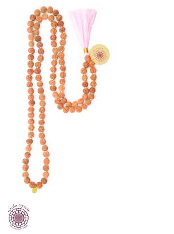 boho chic meditation necklace handmade eco and fair - mala