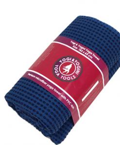 handige antslip handdoek voor hatha yoga blauw