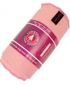 Yogini Yoga handdoek siliconen antislip roze - Hot & Power Yoga