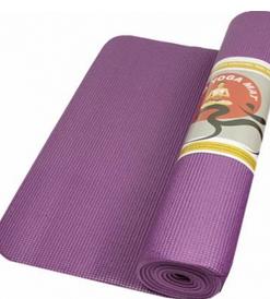 Fijne stevige yogamat violet