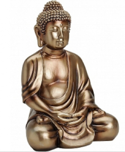 Boeddha Beewld Groot Brons Polystone