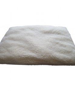 wit meditatiekleed van wol- Zabuton