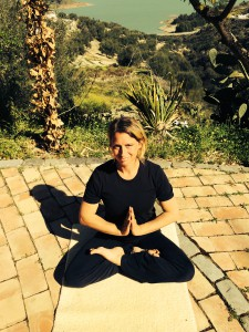 Profesora de Hatha Yoga Ilse-Marie sobering
