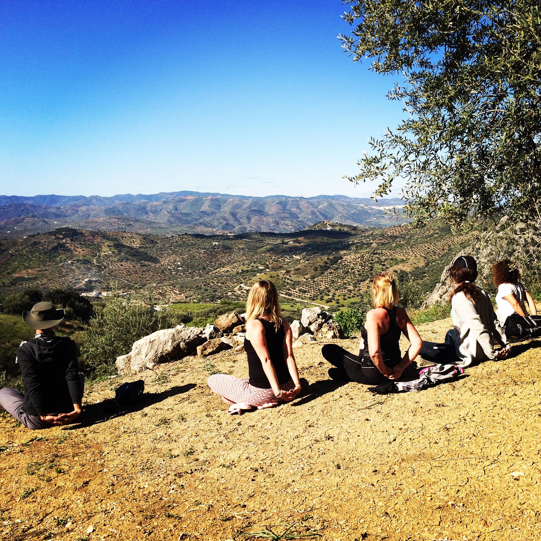 Stiltewandeling yoga retreat