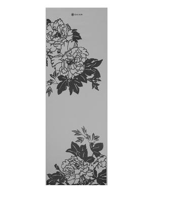 Yogamat bloemenprint Grijs