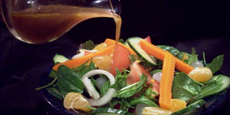 Soja dressing met sinaasappel of citroen